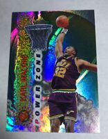 1995-96 Stadium Club Power Zone Utah Jazz Card #PZ4 Karl Malone Hard_8s_Magic