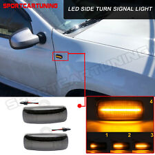 2x Dynamic Smoked LED Side Marker Lights For Jeep Grand Cherokee Patriot Compass
