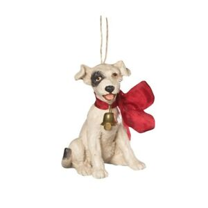 Bethany Lowe Big Bow Puppy Dog Christmas Ornament CP9178