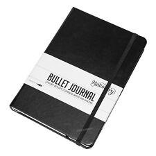 Black Bullet Journal A5 Large 200 Sheet 5mm Dot Grid Note Sketch Book Art Gift