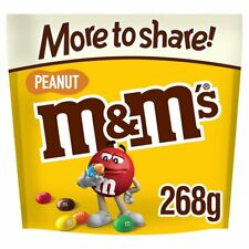 3x M&M's Peanut Chocolate More to Share Pouch Bag 268g
