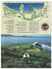 Pebble Beach Golf Course Scorecard, Near Mint Condition, Score Card