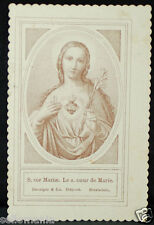 OLD BLESSED SACRED HEART OF MARY HOLY CARD ANDACHTSBILD SANTINI ESTAMPA    CC680