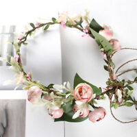 Women Boho Flower Floral Hairband Headband Crown Party Bride Wedding Beach GL