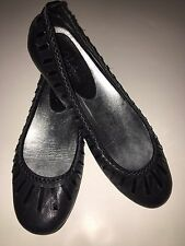 COLE HAAN G SERIES NIKE AIR BLACK LEATHER Ballet flats WOMEN'S SZ 7B Chic/comfy