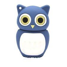 16 GB USB Speicher Stick Speicherstick Flash Drive Eule Owl Gufo Hibou blau
