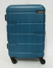 """USED Coolife Luggage 1 Piece Suitcase w TSA Lock Travel ABS+PC 20"""" Blue A301"""