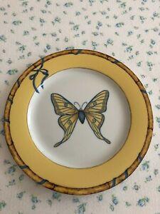 Lynn Chase BUTTERFLY BAMBOO Salad Dessert Luncheon Plate