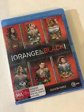 'ORANGE IS THE NEW BLACK' Season Three Region B : 3 Disc Blu-ray - New & Sealed