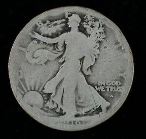 1916-S US Walking Liberty Silver Half Dollar