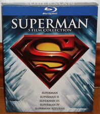 SUPERMAN COLLECTION 5 MOVIES BLU-RAY NEW SPANISH AVENTURAS (UNOPENED) R2