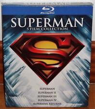 SUPERMAN SAMMLUNG 5 FILME BLU-RAY NEU SPANISCH ABENTEUER (UNGEÖFFNETE) R2