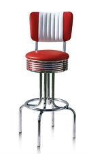 2 x 50s Retro Style Diner Restaurant Kitchen Furniture Barstool Stool Chair 28CB