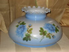 10 Inch fitter Blue Flowers Glass Student Oil Hanging Lamp Shade Aladdin