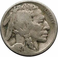 1927 BUFFALO NICKEL 5 Cents of United States of America USA Antique Coin i43690
