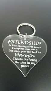 Funny Rude Friendship keyring best friend gift novelty birthday Christmas