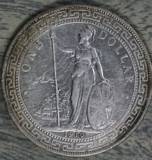 Nice Almost Uncirculated 1910 British Trade Dollar!