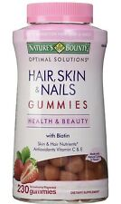 Nature's Bounty HAIR SKIN and NAILS 230 Gummies with Biotin Antioxidants