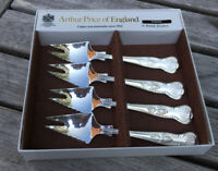 4 ARTHUR PRICE KINGS PATTERN PARTY EATERS BUFFET SPLAYDS CUTLERY SILVER PLATED