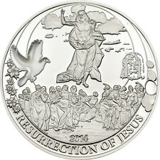 Resurrection of Jesus ~Silver Coin 2$ Cook Island 2014 with COA+ Box