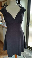 New Ladies Grey Deep Plunge Sleeveless Party Dress Sz 10 S by Chica Booti !!