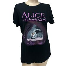 Alice In Wonderland T-shirt: Disney Large (L) Black Iconic Scene Retro