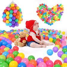 100/200 Pcs Rainbow Balles Boules Plastique Piscine Jeux Jouet Pour Enfant Bébé