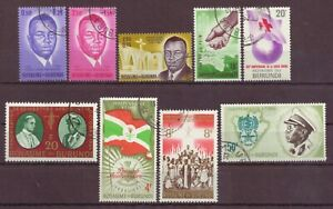 Burundi, King & Prince, Cancelled to Order hinged, 1962 - 1966