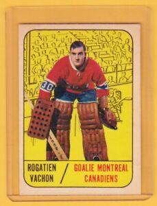 1967-68 TOPPS # 75 ROGATIEN ROGIE VACHON ROOKIE CANADIENS MONTREAL