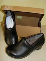 Jambu by JBU Women's Cordoba Leather Slip-on Comfortable Clogs Mules