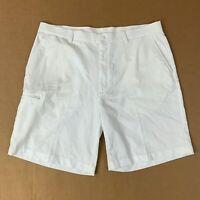 Champions Tour Mens Size 38 White Flat Front Golf Shorts