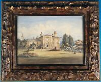 Antique 19th C. Untitled Europe Landscape Watercolor Well Framed