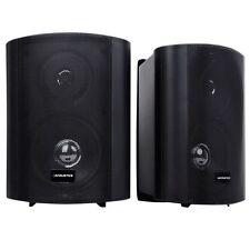 Indoor Outdoor Speaker Marine Waterproof 150W 2 Way Sound Garden Home Black NEW