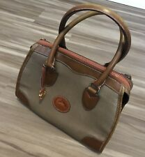 Dooney & Bourke Vintage Taupe Pebble Leather Satchel