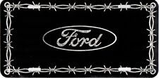 Ford Barbed Wire Metal License Plate