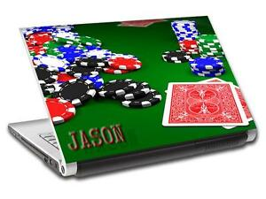 Poker Texas Hold'Em Chips Personalized LAPTOP Skin Decal Sticker ANY NAME L451