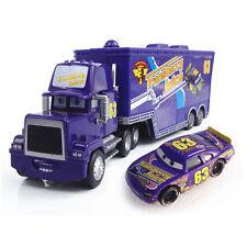MT Disney Cars No.63 Transberry Juice Mack Hauler Truck & Racer Metal 1:55 Loose