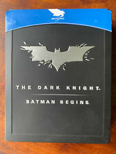 Batman Begins + Dark Knight Blu-ray Steelbook Box Set DC Universe Double Bill