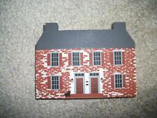 Retired 1986 Cats Meow Village Series Iv John Belville House Pine Shelf Sitter