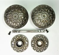 Antique Vintage Eastlake Victorian Ornate Door Knobs Escutcheon Rosettes Plates