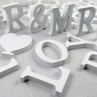 Weiß Holzbuchstaben 8cm Dekoration Buchstaben 3D Alphabet Party Holzdekorationen