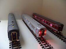 Train électrique - Lot de 3 wagons voyageurs JOUEF et GéGé -  HO - 1/87