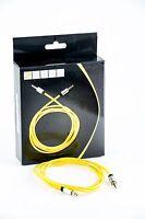 7even Aux 3,5mm Mini-Klinken und Kopfhörer Textil Kabel, gelb