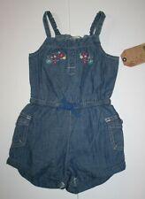 New OshKosh Girls 2T Summer Romper Outfit Denim Blue...