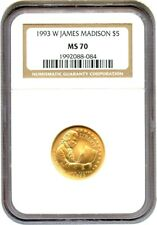 1993-W Madison $5 NGC MS70 - Modern Commemorative Gold