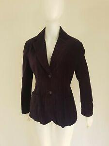 MNG Deep Purple Velet Jacket size USA 10