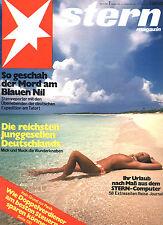 Magazin STERN  Nr 7 v 1975, Reichste Junggesellen D; Urlaub-Extra; Mord am Nil