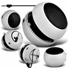 White Portable Capsule Rechargeable Compact Speaker For Apple Iphone 5S