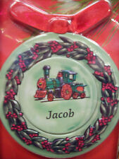 Personalized Metal Christmas Ornament, JACOB Magnet w/ Photo Insert  4-in-1 NEW!