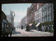 POSTCARD LANARKSHIRE/ GLASGOW GLASGOW - SAUCHIEHALL ST - 1900'S TRAMS IN STREET